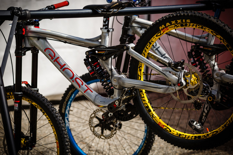 Johannes Fischbach's Ghost DH Bike - PIT BITS: 2013 Andorra World Cup - Mountain Biking Pictures - Vital MTB