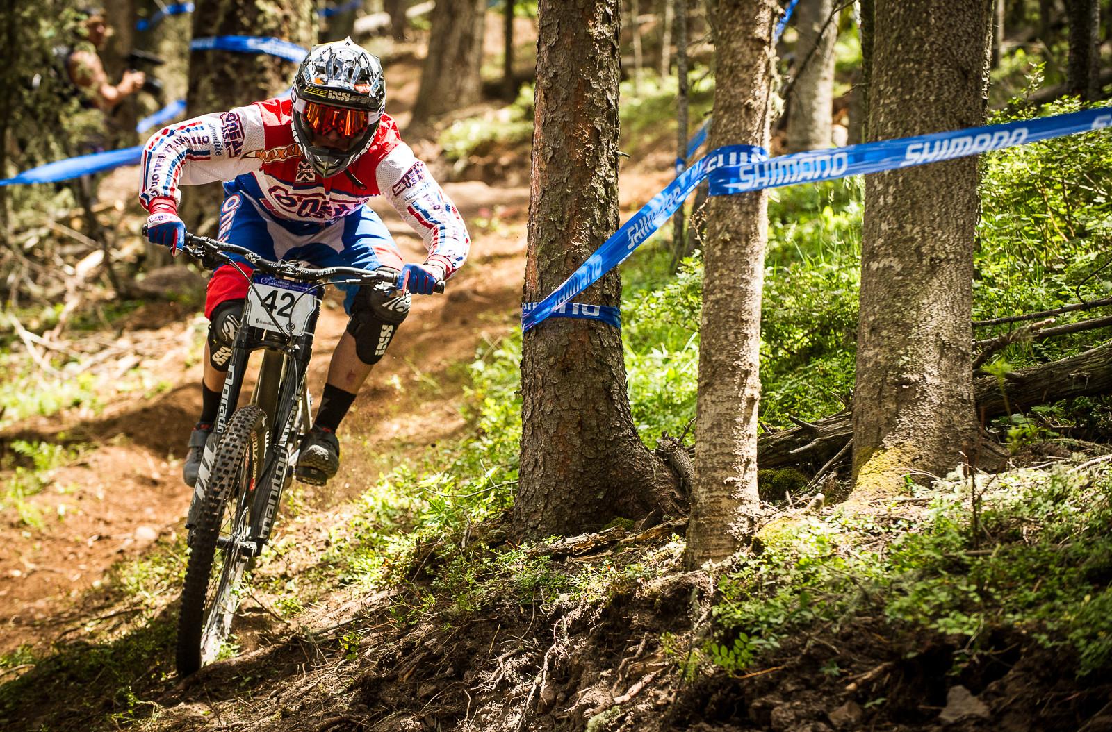 Logan Binggeli, 2nd Place, U.S. National Championships DH - U.S. National Championship Downhill Finals Photos - Mountain Biking Pictures - Vital MTB
