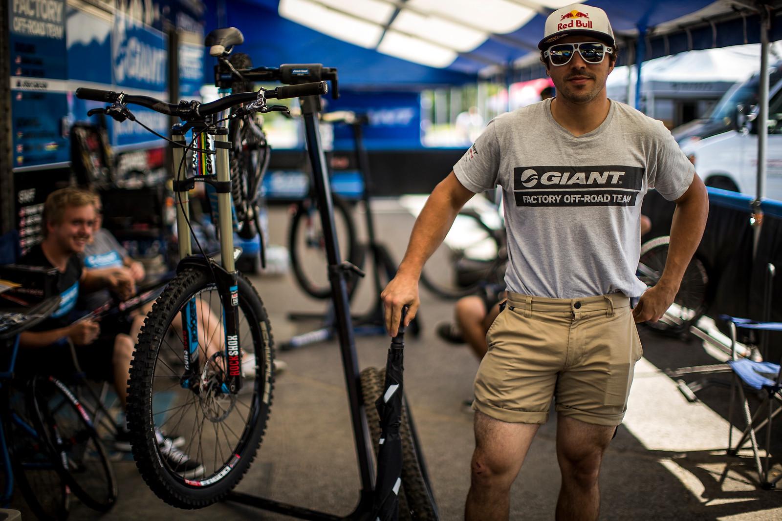 Marcelo Gutierrez Euro-style at Mont Sainte Anne - PIT BITS, Track Walk - It's On at Mont Sainte Anne World Cup - Mountain Biking Pictures - Vital MTB