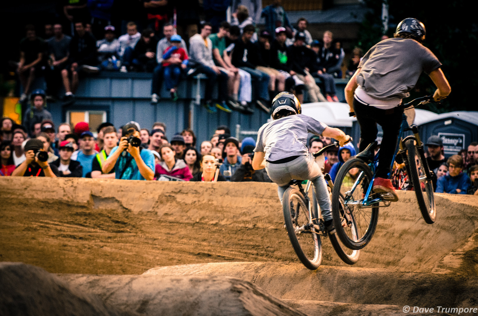 Danny Hart vs Anton Thelander - Crankworx Ultimate Pumptrack Challenge Action - Mountain Biking Pictures - Vital MTB