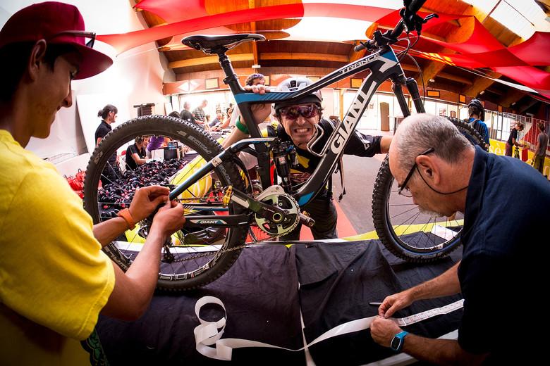 Adam Craig Gets Stickered Up for Enduro World Series 6 - 2013 Enduro World Series 6, Enduro Des Nations Photo Recon - Mountain Biking Pictures - Vital MTB
