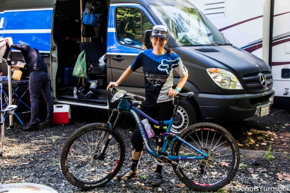 PIT BITS: Kelli Emmett's Giant Intrigue 27.5 at the Mt. Hood Oregon Enduro - PIT BITS: North American Enduro Tour, Mount Hood - Mountain Biking Pictures - Vital MTB