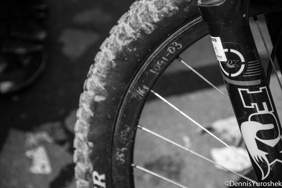 JHK's Fox 34 with Prototype Carbon 27.5 Wheel - PIT BITS: North American Enduro Tour, Mount Hood - Mountain Biking Pictures - Vital MTB