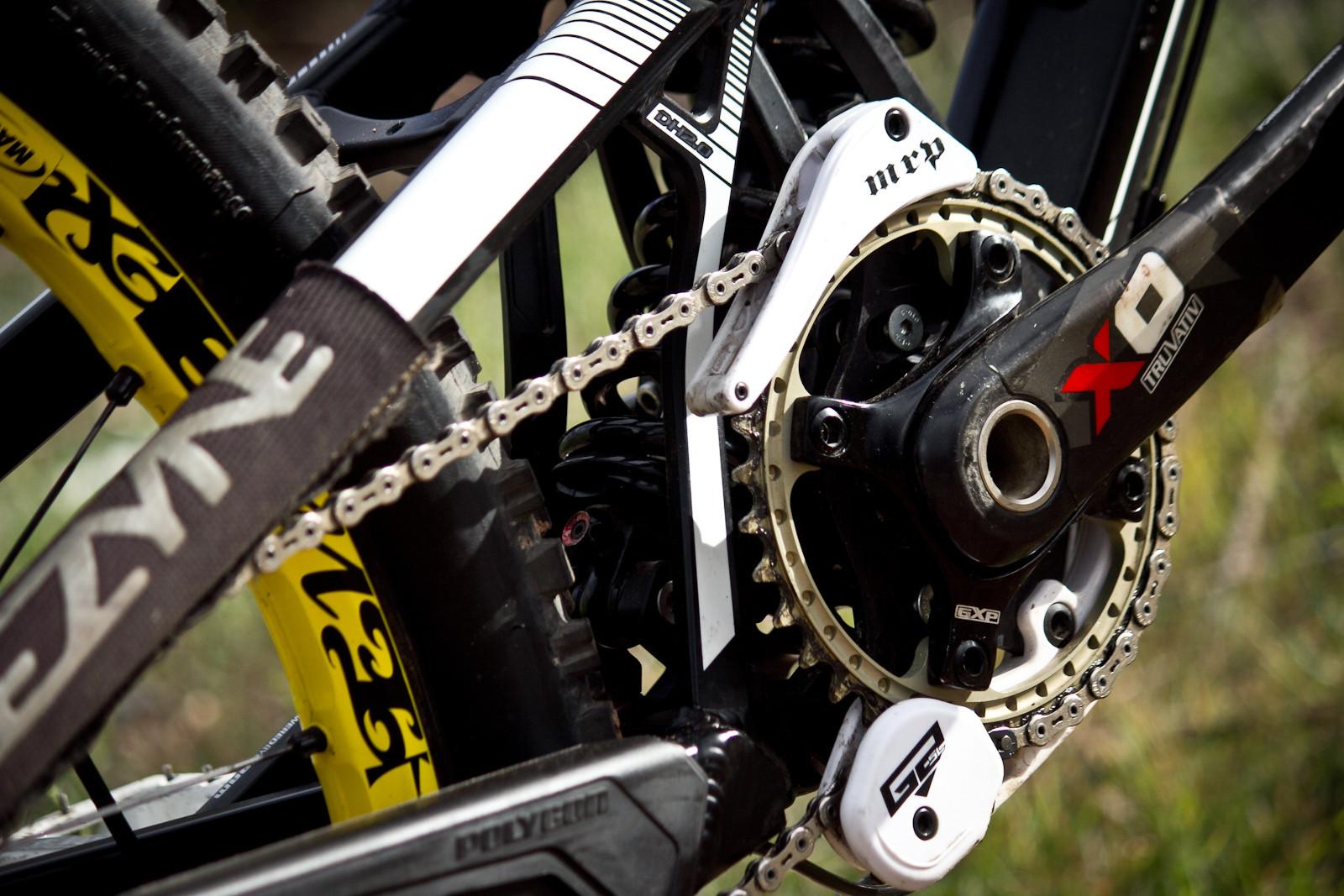 Chainring On Truvativ X0 Carbon Cranks Rampage Pro Bike Yannick