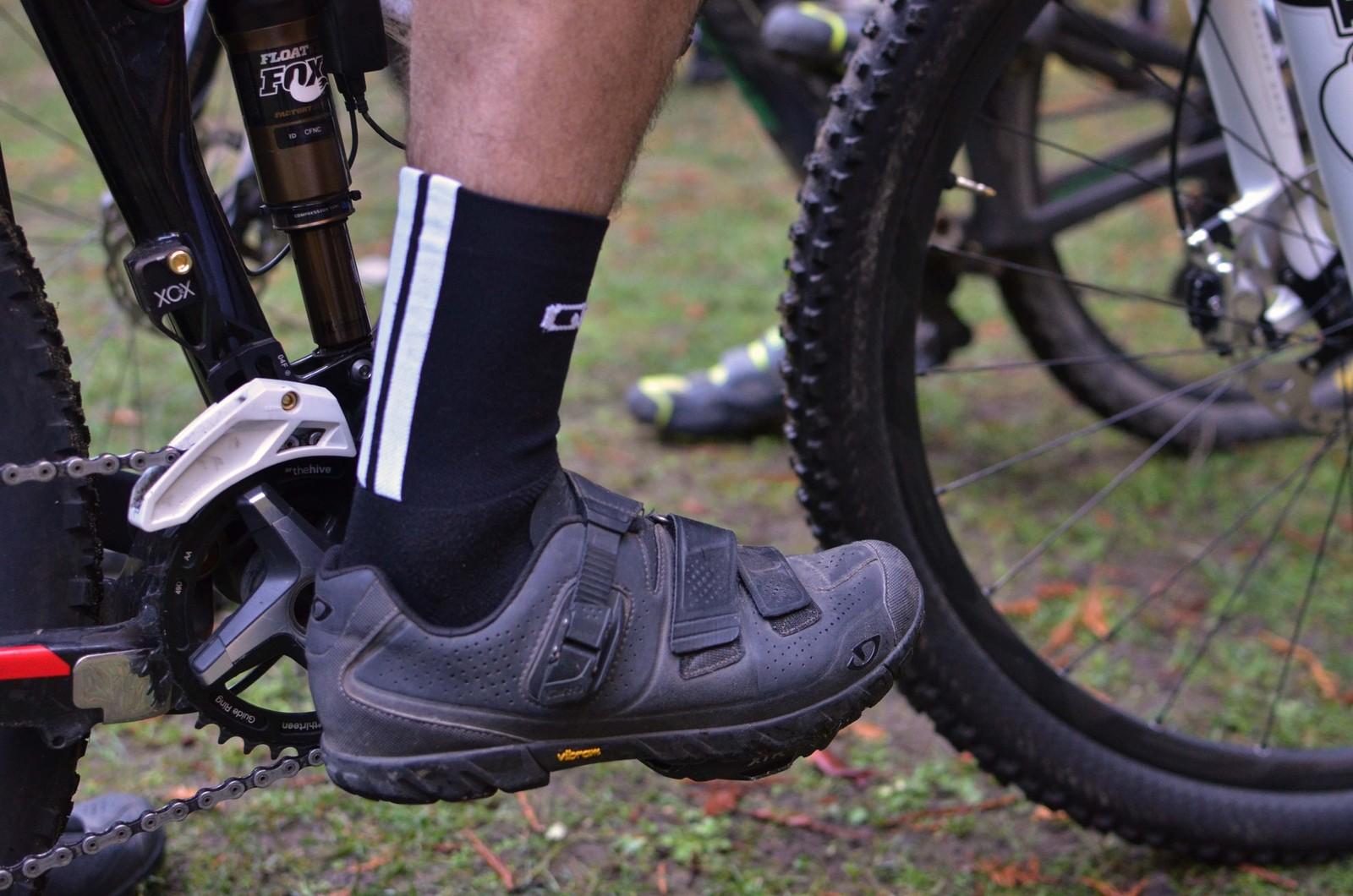 Aaron Bradford's Giro Terraduro Shoes - PIT BITS - 2013 Santa Cruz Super Enduro - Mountain Biking Pictures - Vital MTB