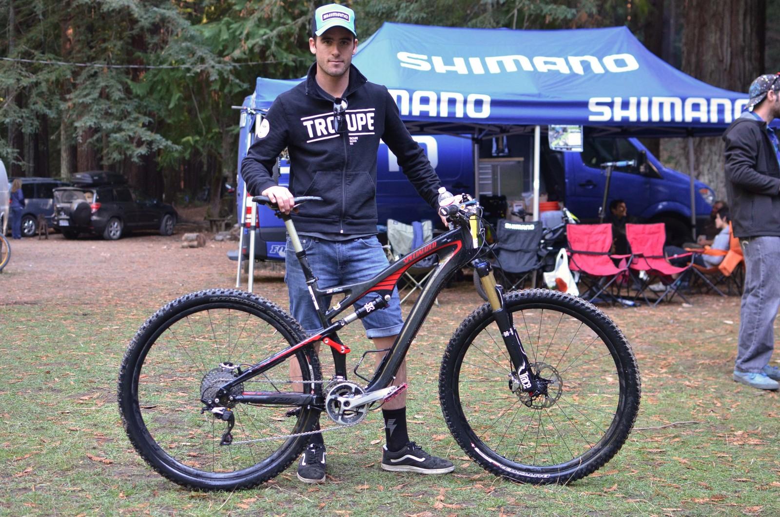 X-Fusion's John Hauer with his Specialized at the Santa Cruz Super Enduro - PIT BITS - 2013 Santa Cruz Super Enduro - Mountain Biking Pictures - Vital MTB