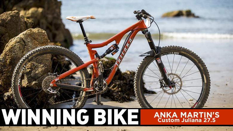 WINNING BIKE: Anka Martin's Custom Juliana 27.5 - WINNING BIKE: Anka Martin's Prototype Juliana 27.5 - Mountain Biking Pictures - Vital MTB