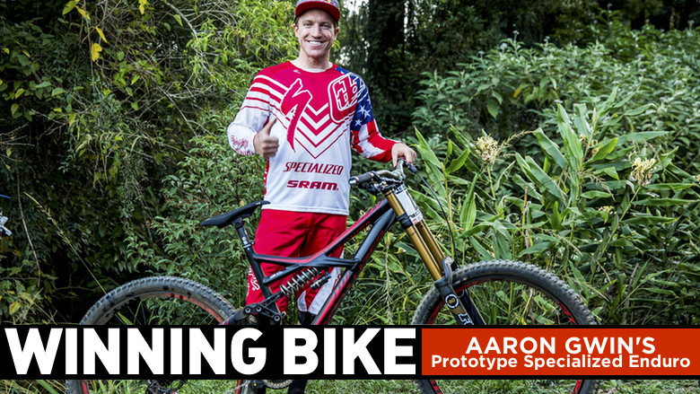 WINNING BIKE: Aaron Gwin's Prototype Specialized Enduro EVO 650b - WINNING BIKE: Aaron Gwin's Prototype Specialized Enduro EVO 650b - Mountain Biking Pictures - Vital MTB