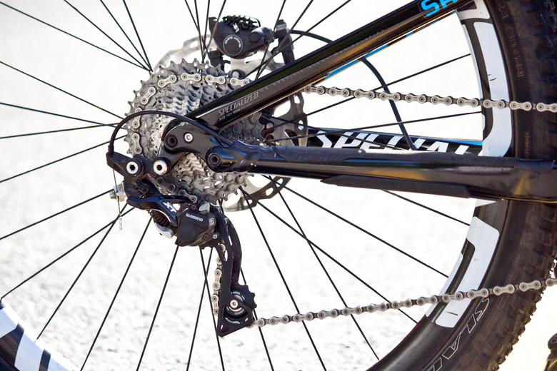 Shimano XT Rear Derailleur on Cody Kelley's Stumpy EVO 29 - Pro Bike Check: Cody Kelley's Specialized Stumpjumper FSR EVO 29 - Mountain Biking Pictures - Vital MTB