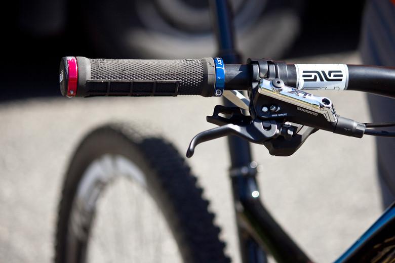 ODI Grips, ENVE Carbon Bars and Shimano XT Disc Brakes - Pro Bike Check: Cody Kelley's Specialized Stumpjumper FSR EVO 29 - Mountain Biking Pictures - Vital MTB