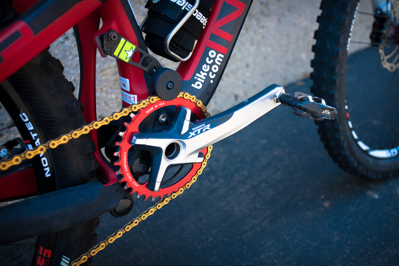 Shimano XTR Cranks on Brian Lopes' Intense Tracer T275 - Pro Bike Check: Brian Lopes' Intense Tracer T275 - Mountain Biking Pictures - Vital MTB