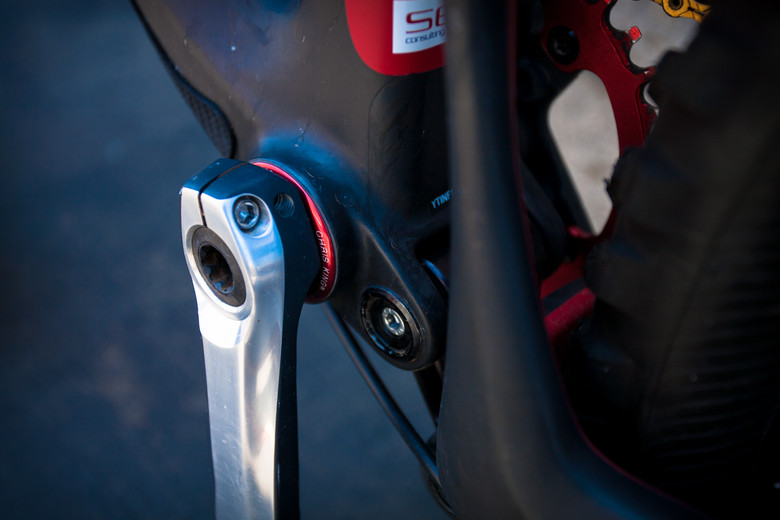 Chris King Bottom Bracket on Brian Lopes' Intense Tracer T275 - Pro Bike Check: Brian Lopes' Intense Tracer T275 - Mountain Biking Pictures - Vital MTB