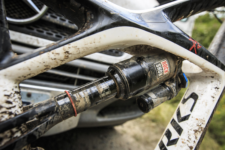 RockShox Monarch Plus on Kirt Voreis' Specialized Enduro 29 - WINNING BIKE: Kirt Voreis' Specialized Enduro 29 - Mountain Biking Pictures - Vital MTB