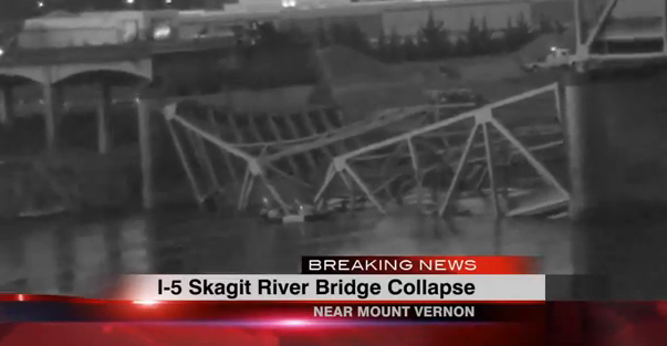 Mountain Bike Reviews >> Bridge Collapse on I-5 Near Seattle - Be Aware If You're ...