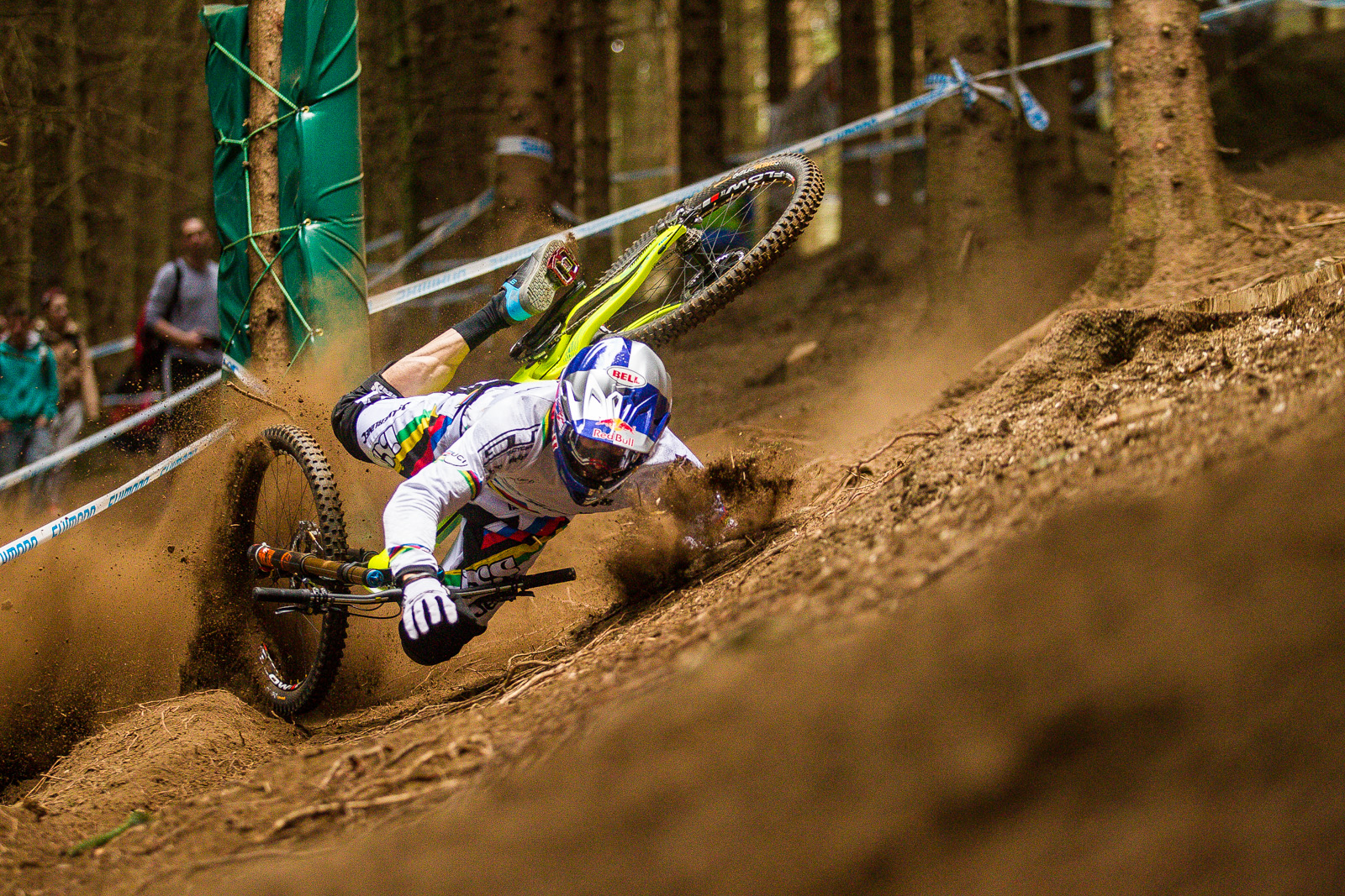 Drag Racing Helmets >> Gee Atherton's Qualifying Crash, Lourdes World Cup - Mountain Biking Videos - Vital MTB