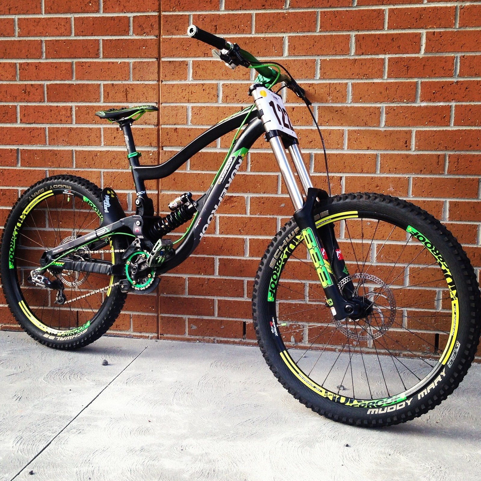 2011 Nukeproof Scalp with fully customised decals