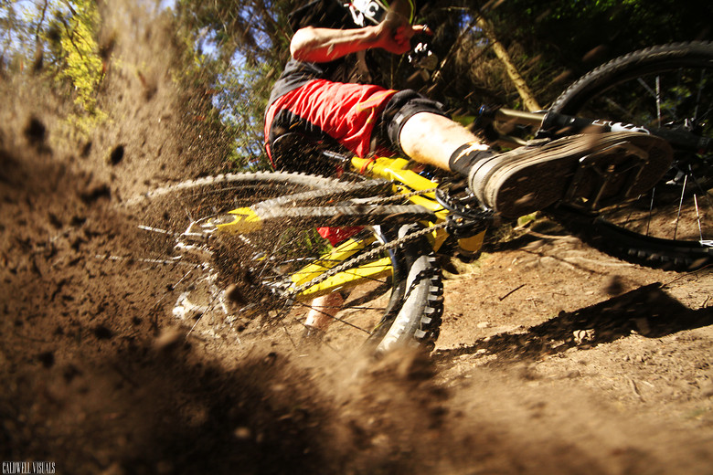 Rob ploughing a corner at the FOD - CaldwellVisuals - Mountain Biking Pictures - Vital MTB