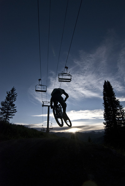 Avery at Dusk - Evolution Bike Park - Mountain Biking Pictures - Vital MTB