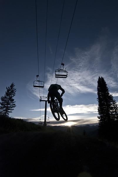 Avery at Dusk - Evolution Bike Park - Mountain Biking Pictures - Vital MTB