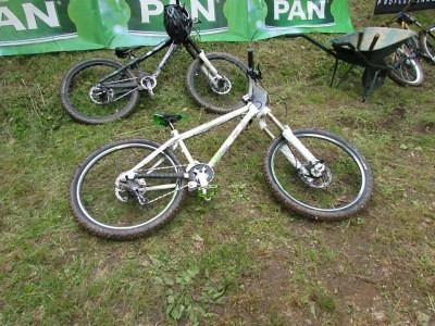 My bike at the Margareta mini-bike-park DH (MmbP) race
