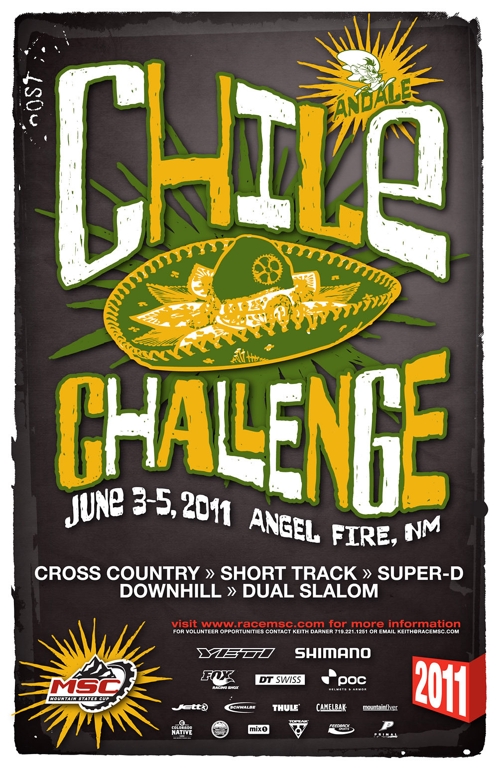 Chile Challenge poster 2011 FINAL - Full Trucker - Mountain Biking Pictures - Vital MTB