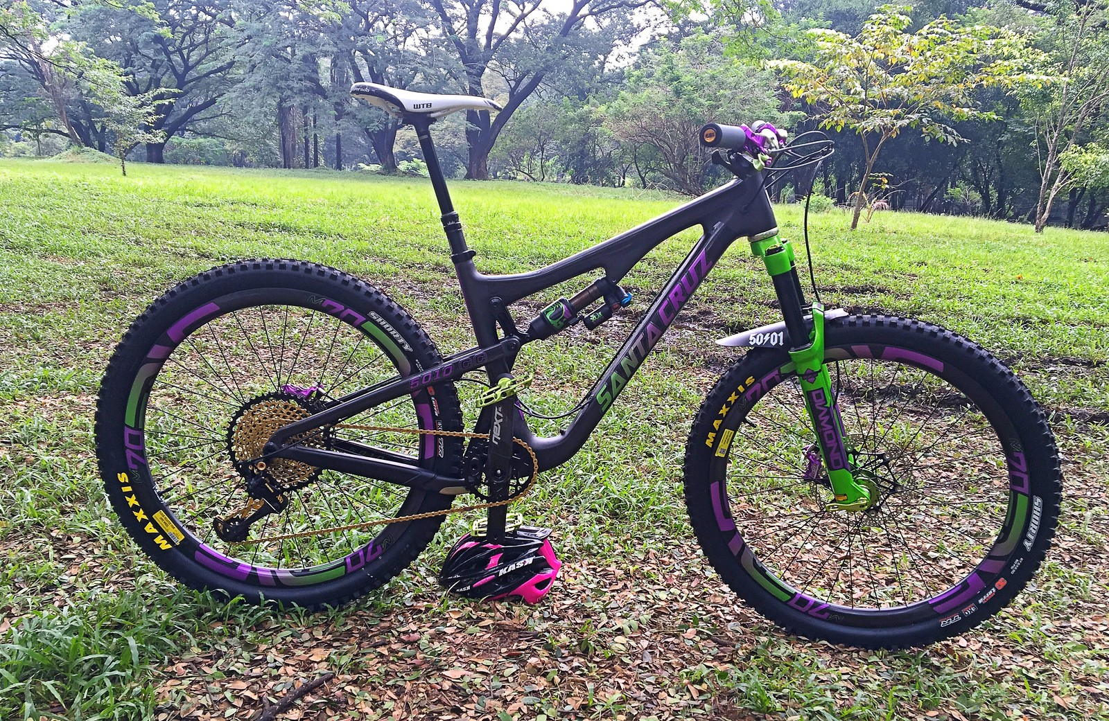 Custom Purple Green Santa Cruz 5010 Luigilizares77 S