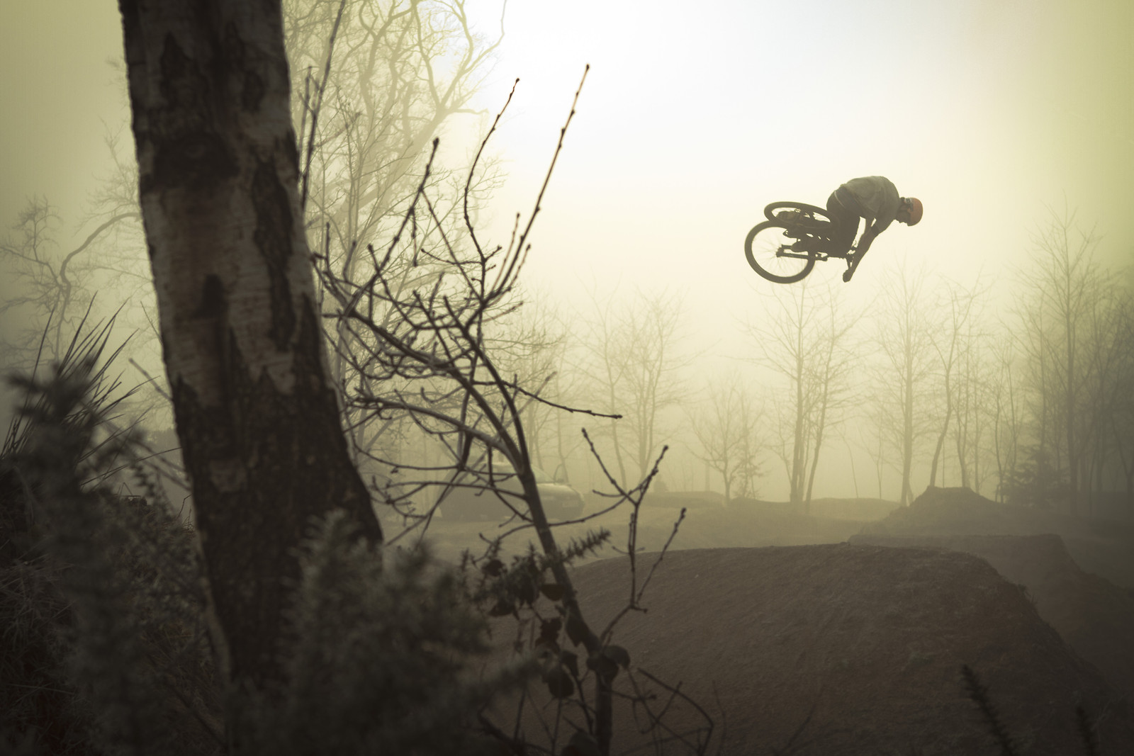 Matt Jones through the fog. - jamieledson - Mountain Biking Pictures - Vital MTB
