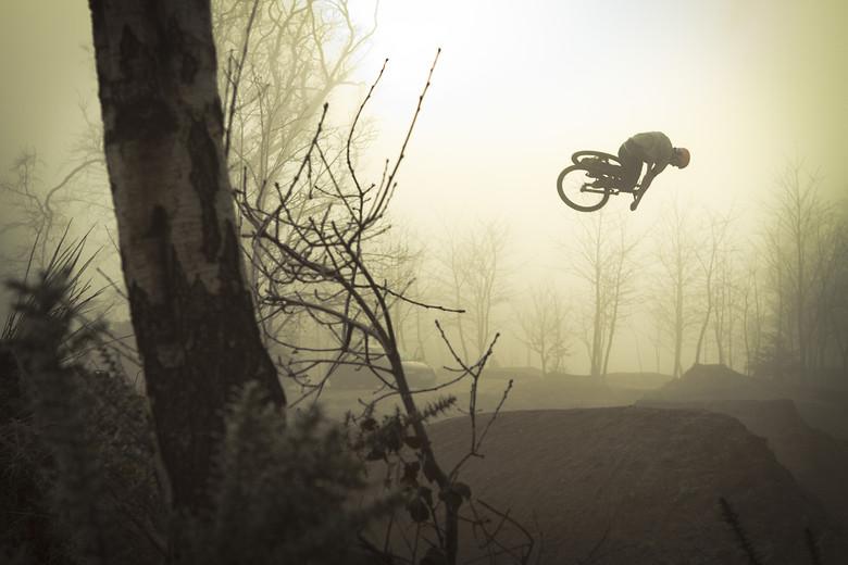 Matt Jones through the fog. - jamieledson - Mountain Biking Pictures - Vital MTB
