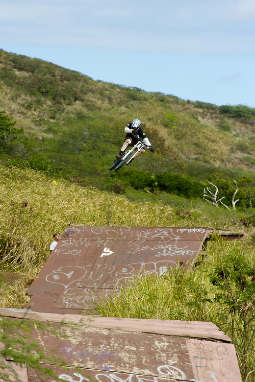 ron whipping the first jump - thebyker - Mountain Biking Pictures - Vital MTB