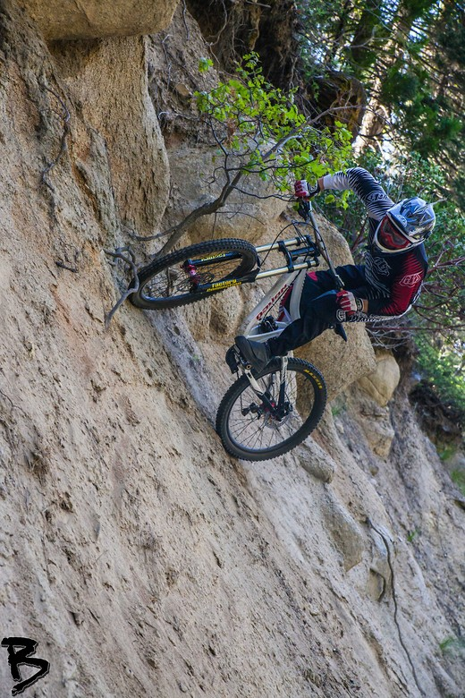 Greg pitches it sideways - GnarHuck - Mountain Biking Pictures - Vital MTB