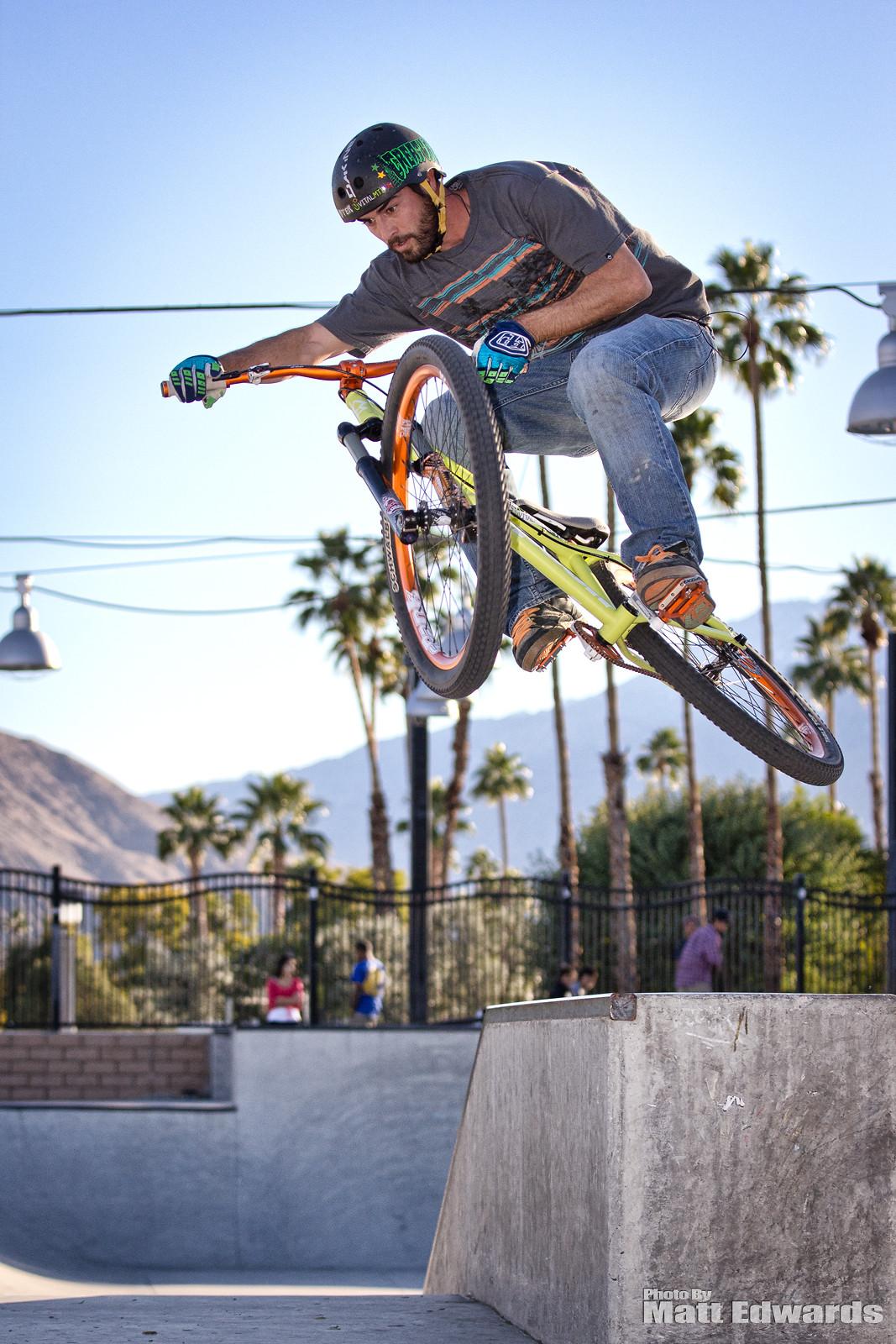 Boostin over the ledge - EdwardsEntertainment - Mountain Biking Pictures - Vital MTB