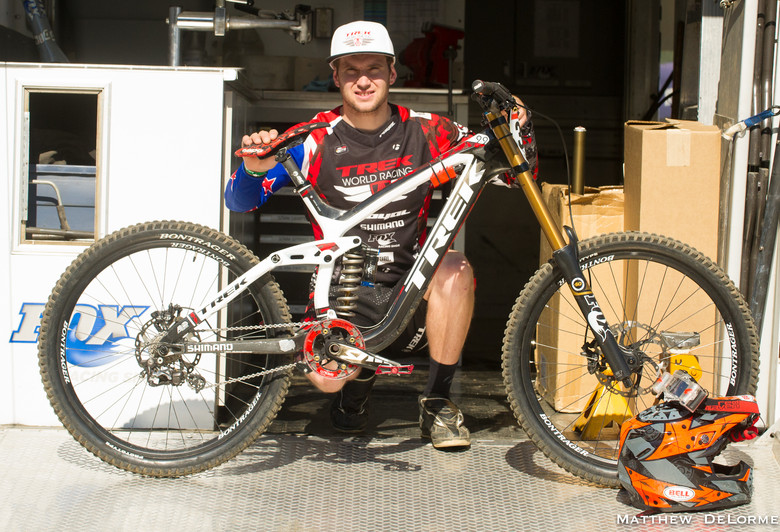 Justin Leov and his Session 9.9 - Mountain Creek Pro GRT Bike Check - Mountain Biking Pictures - Vital MTB