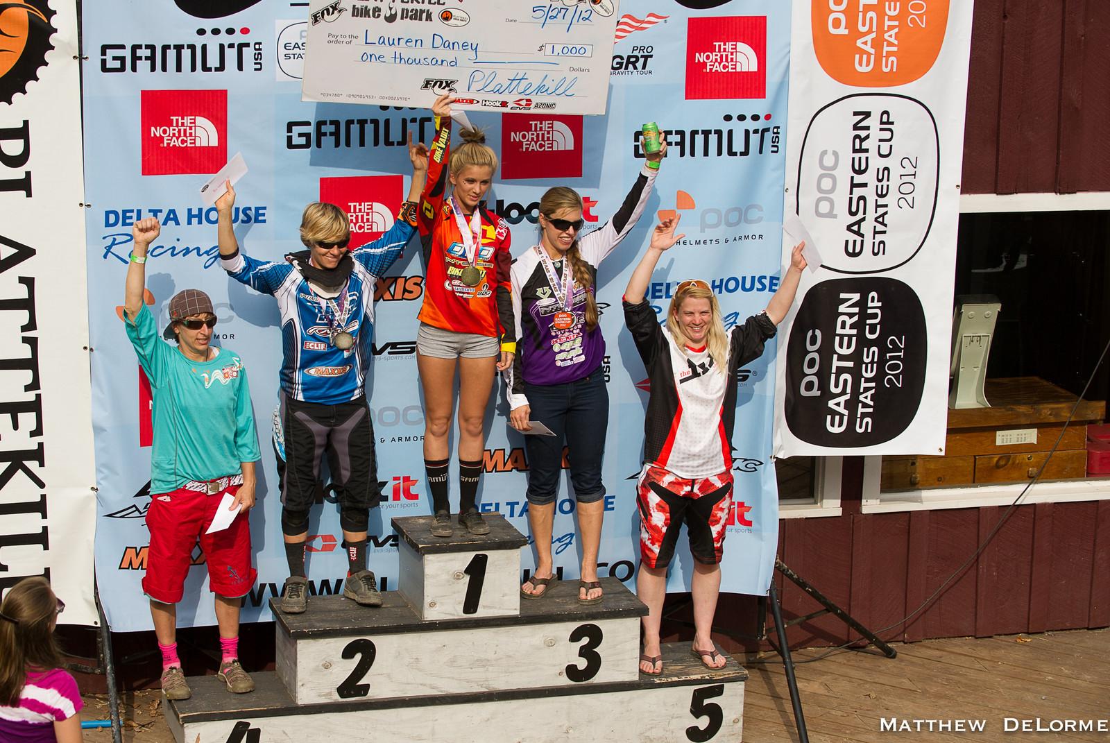 Womens Pro Podium - Aaron Gwin Wins Plattekill ESC Pro GRT 2012 - Mountain Biking Pictures - Vital MTB
