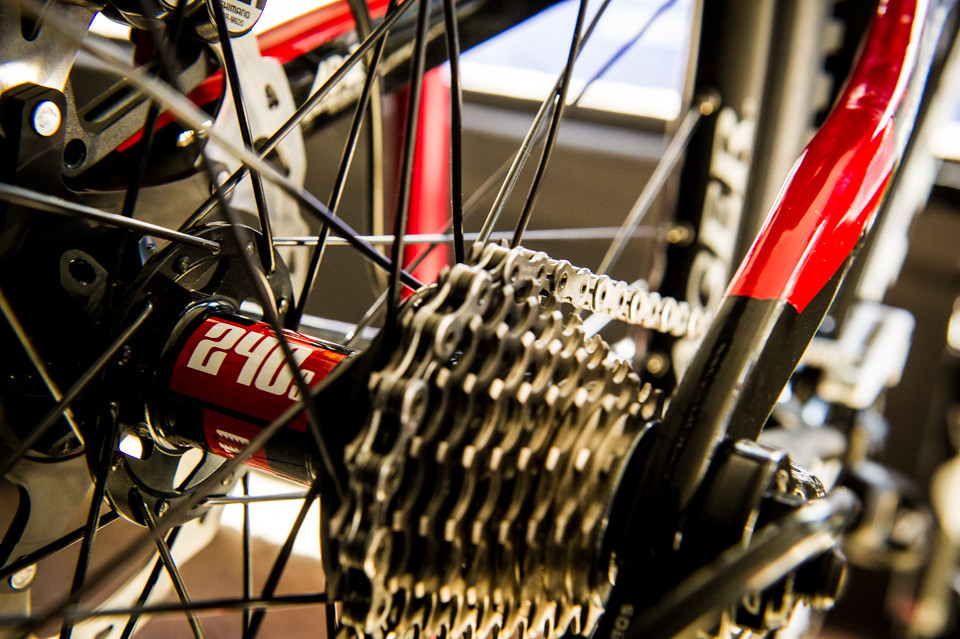 DT Swiss 240s Hubs laced to Bontrager Rims on Brook MacDonald's Race Bike - mdelorme - Mountain Biking Pictures - Vital MTB