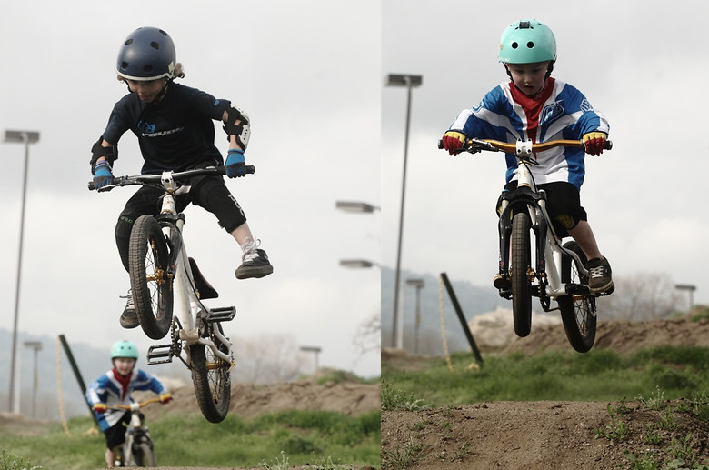 Jackson Goldstone and Gavin Stanton Holding it Down for the Groms at Super Session - corytepper.com - Mountain Biking Pictures - Vital MTB