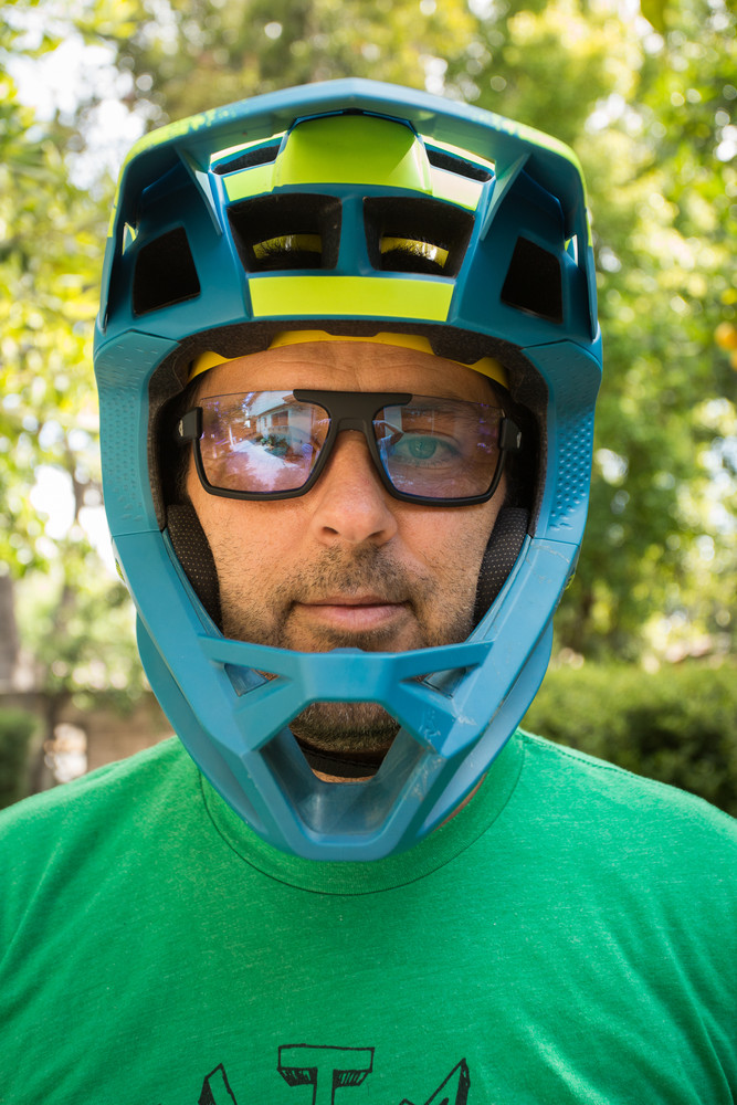 Ryders Incline glasses in a Fox Proframe helmet.