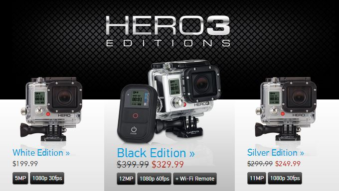 GoPro HERO3 Sale