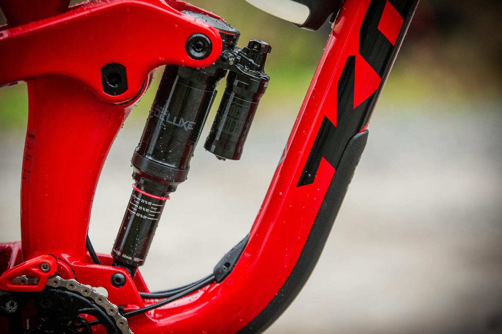 RockShox Lyrik fork and Super Deluxe rear shock handling the suspension duties.