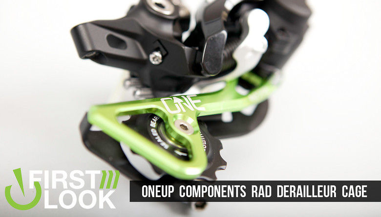 First Look: OneUp Components 1x10 RAD Derailleur Cage