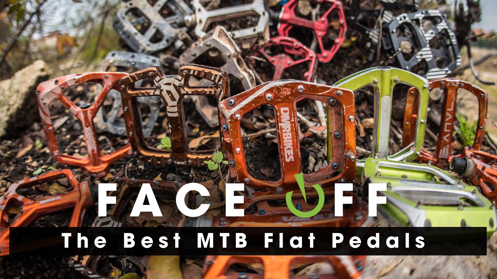 VP Components VP-AIM Flat Platform MTB Bike Pedals w// Pins Alloy Sealed Black