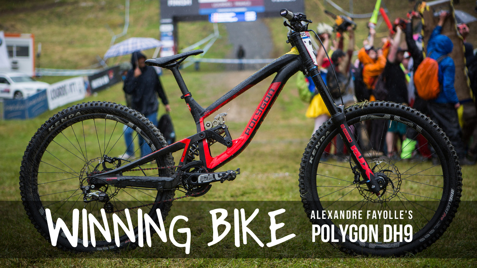 WINNING BIKE: Alexandre Fayolle's Polygon DH9