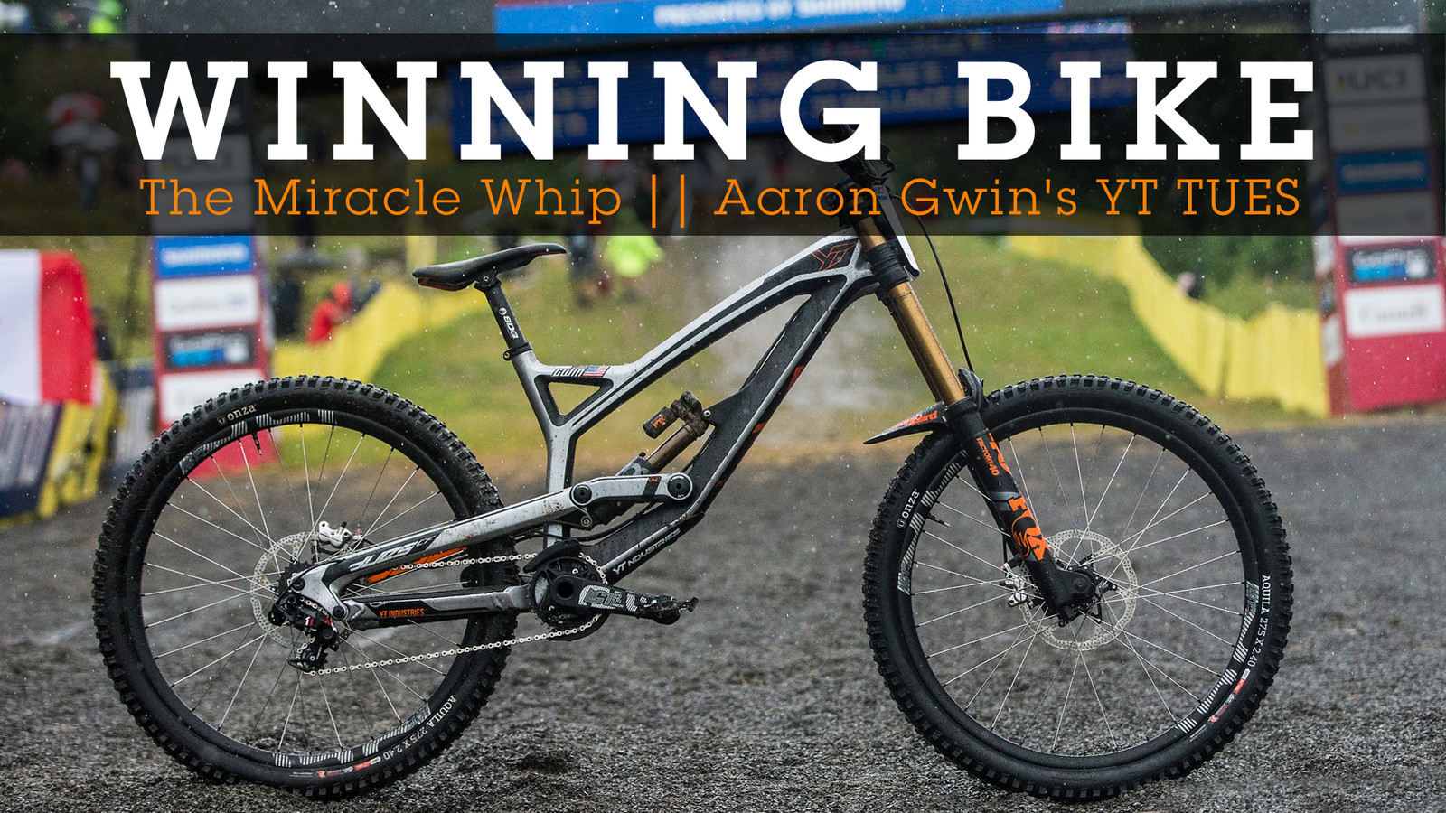 WINNING BIKE - Aaron Gwin's YT TUES at Mont-Sainte-Anne