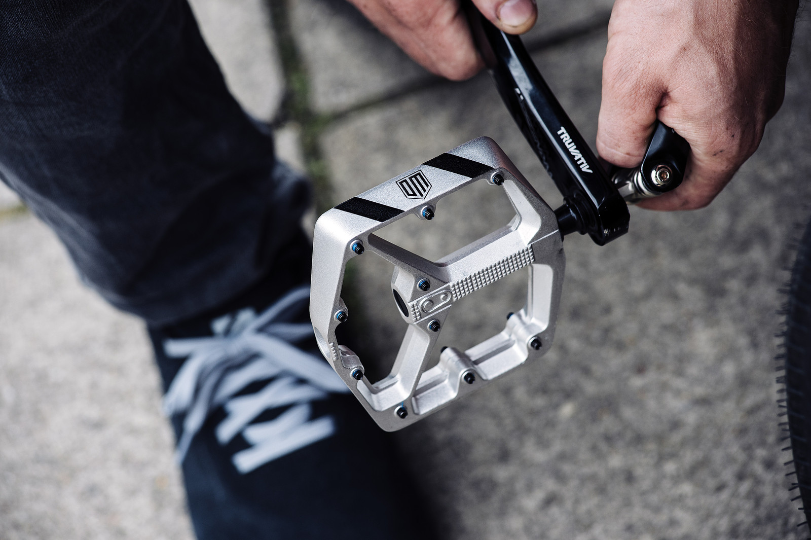 Crank Brothers Stamp 2 Pedals Raw Silver Large