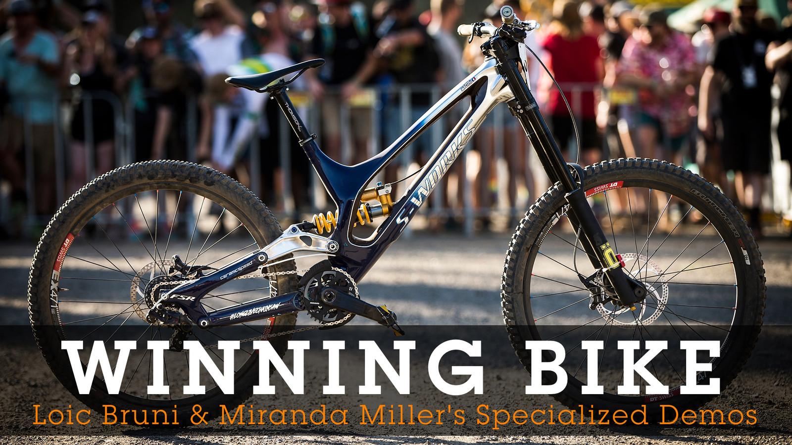 WORLD CHAMPS WINNING BIKES - Loic Bruni & Miranda Miller's Specialized Demos