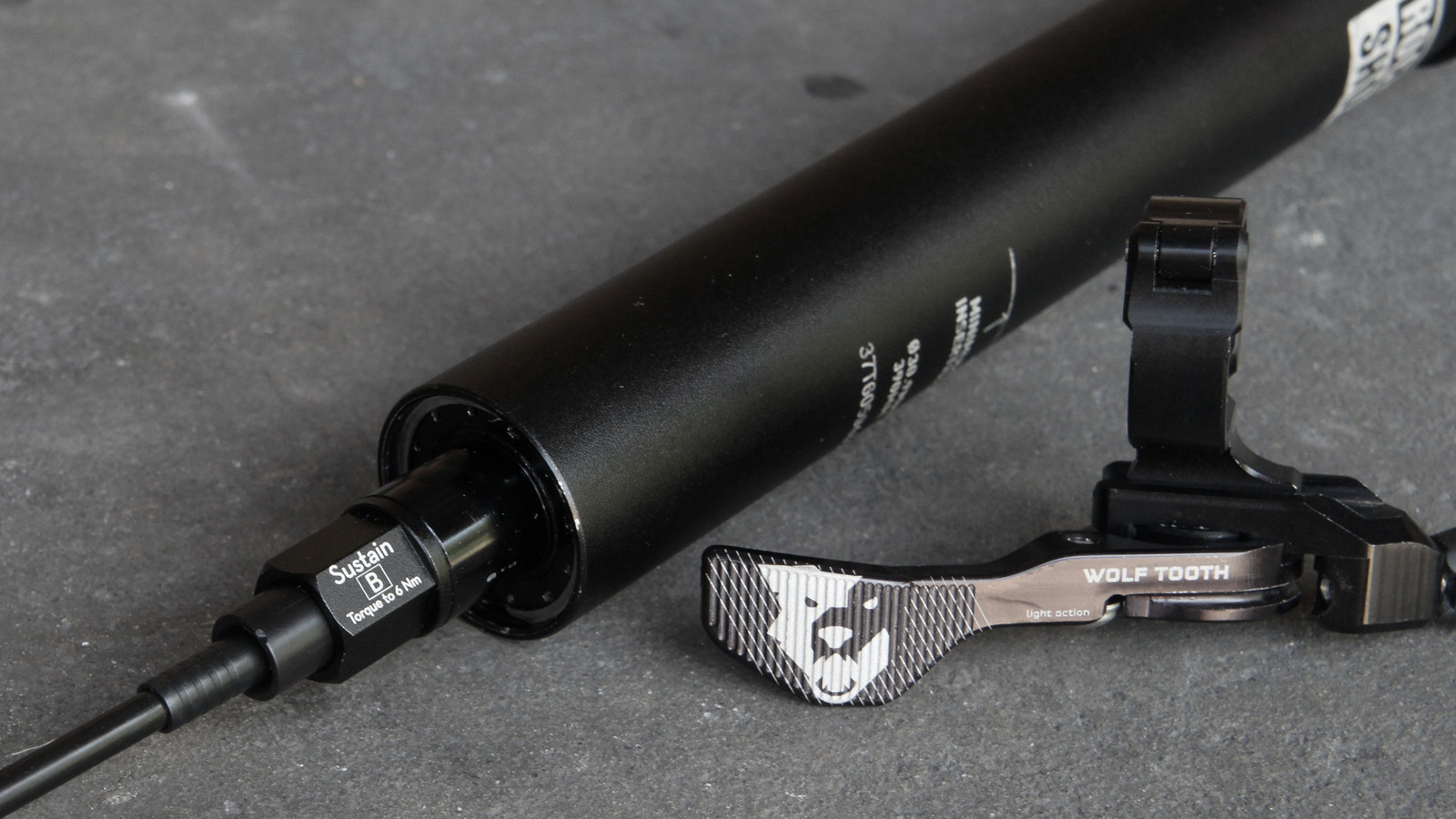 Wolf Tooth's ReMote Sustain is a Cable-Actuated Lever for RockShox Reverb Dropper Posts