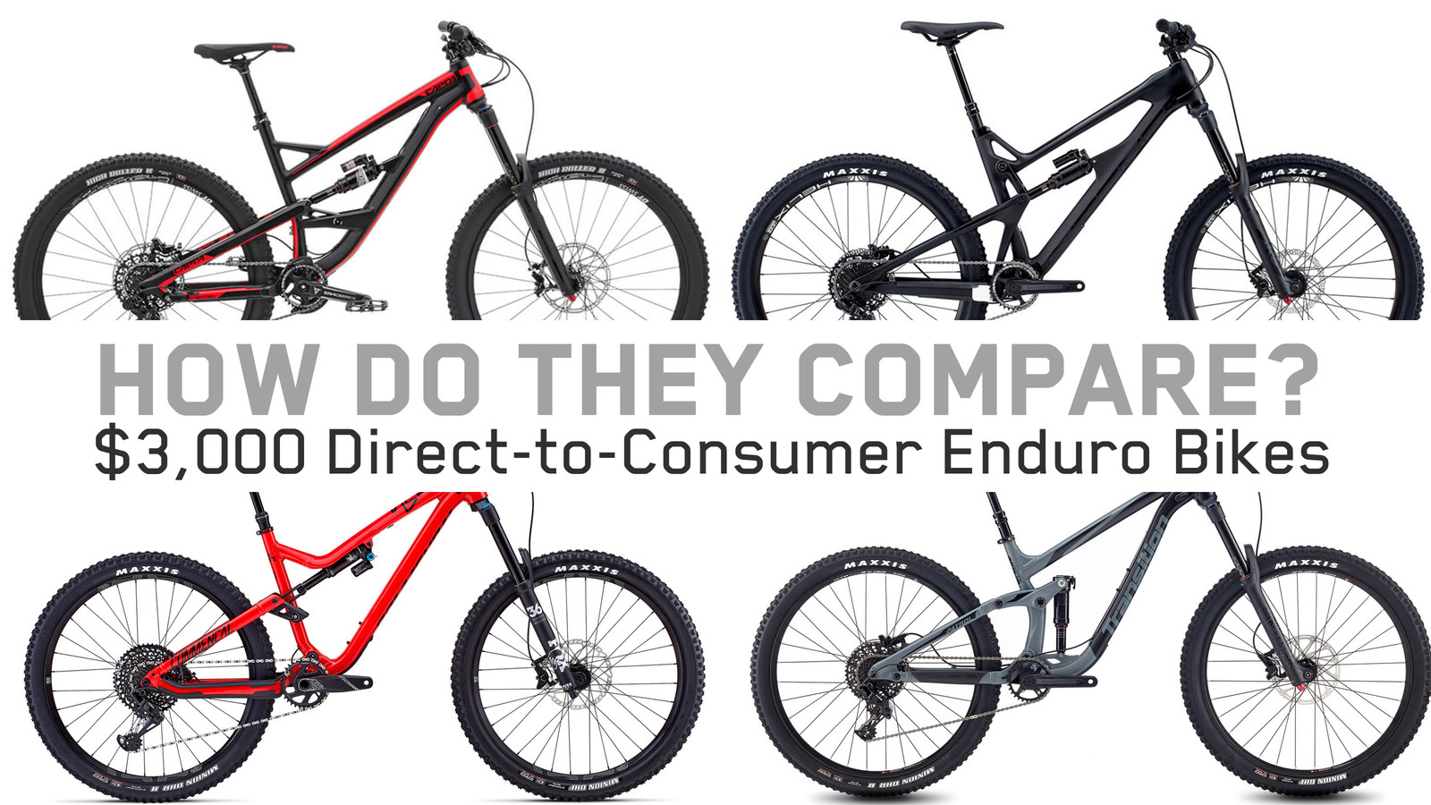 Budget Bike Comparison - Four $3,000 Direct-to-Consumer Enduro Bikes