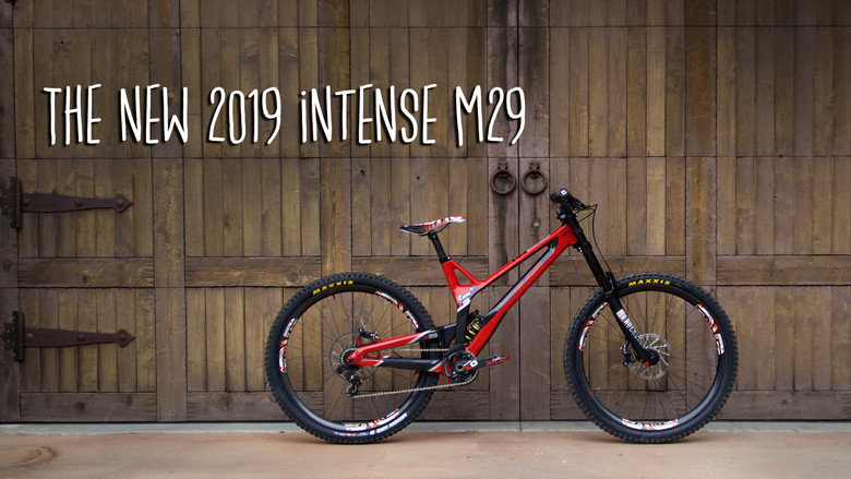 the new 2019 intense m29 carbon downhill bike mountain. Black Bedroom Furniture Sets. Home Design Ideas