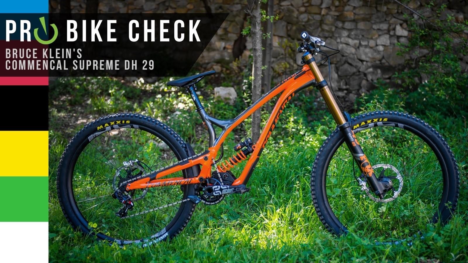 Pro Bike Check: Bruce Klein's Commencal Supreme DH 29