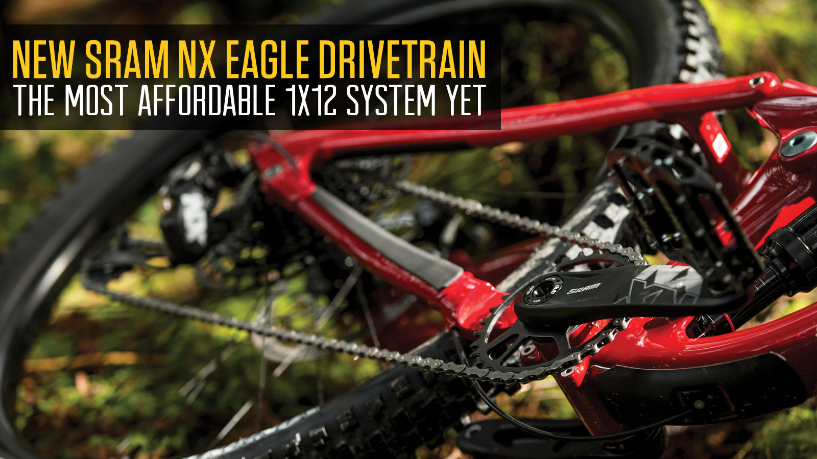 SRAM's New NX Eagle 1x12 Drivetrain is the Most Affordable Yet