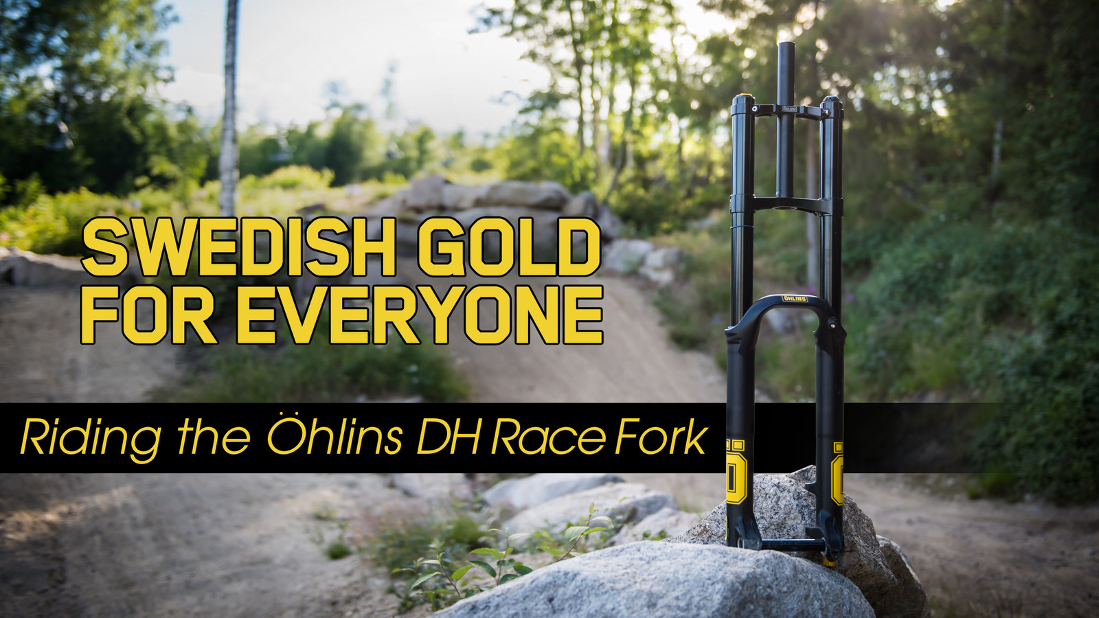 Swedish Gold for Everyone | Vital Rides the All-New Öhlins DH38 Race Fork